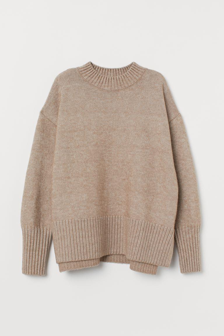 Beige Marl Knitted Jumper