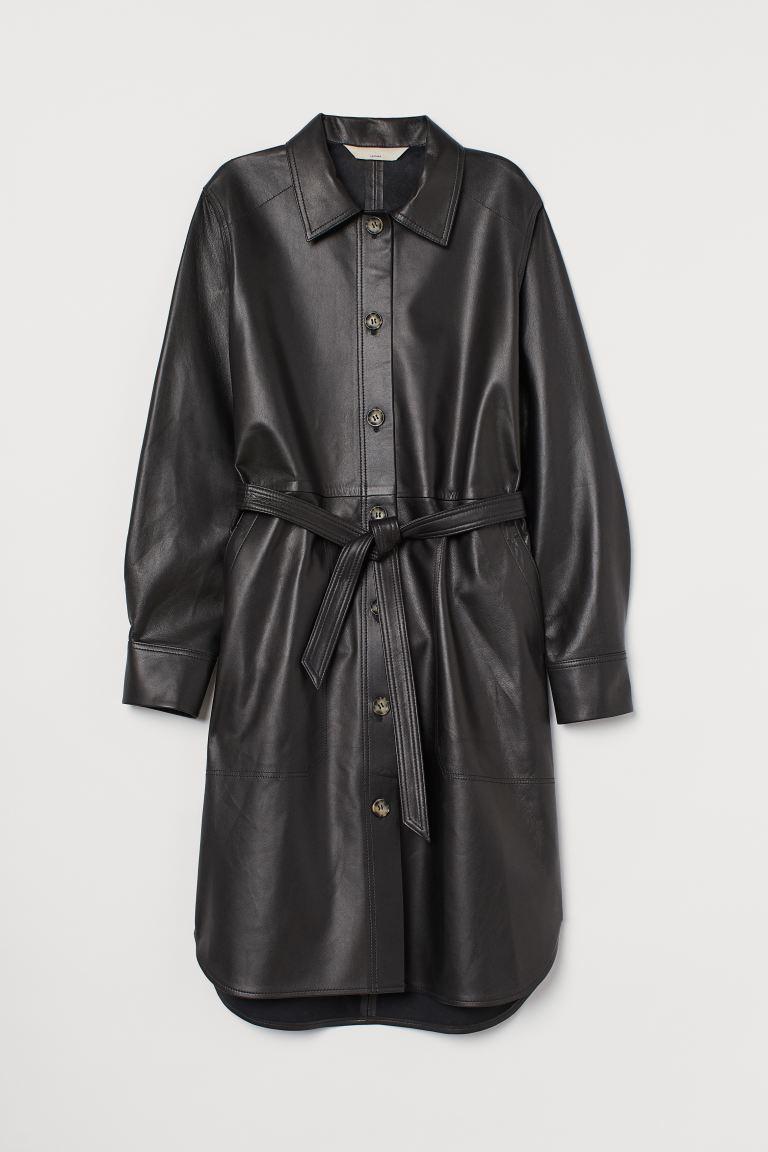 Blusenkleid aus Leder