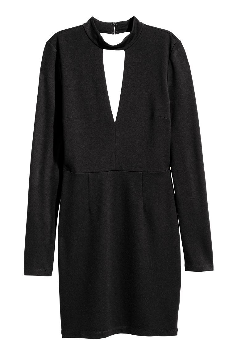 Kleid mit VAusschnitt  Schwarz  Ladies  HM AT