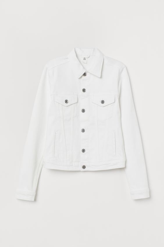 Denim Jacket - White - Ladies | H&M . #denimjacket #women #fashion #whitedenim