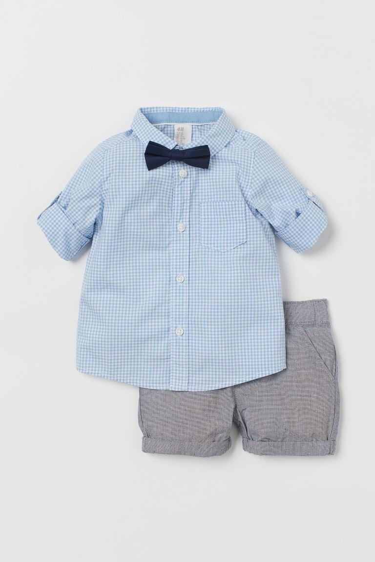 3-teiliges Baumwollset zur Taufe von H&M