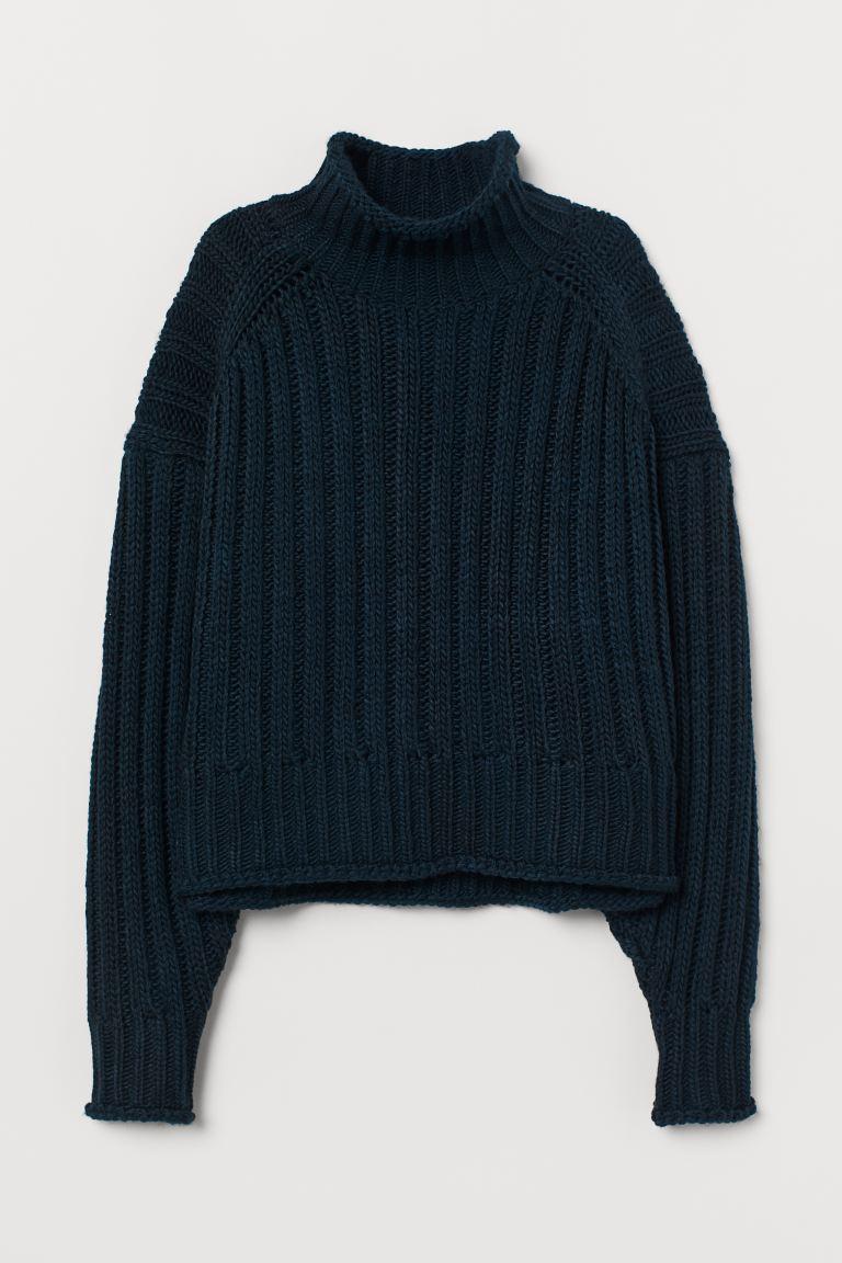 ハイネック h&m リブニット セーター ハイネック リブニットセーター