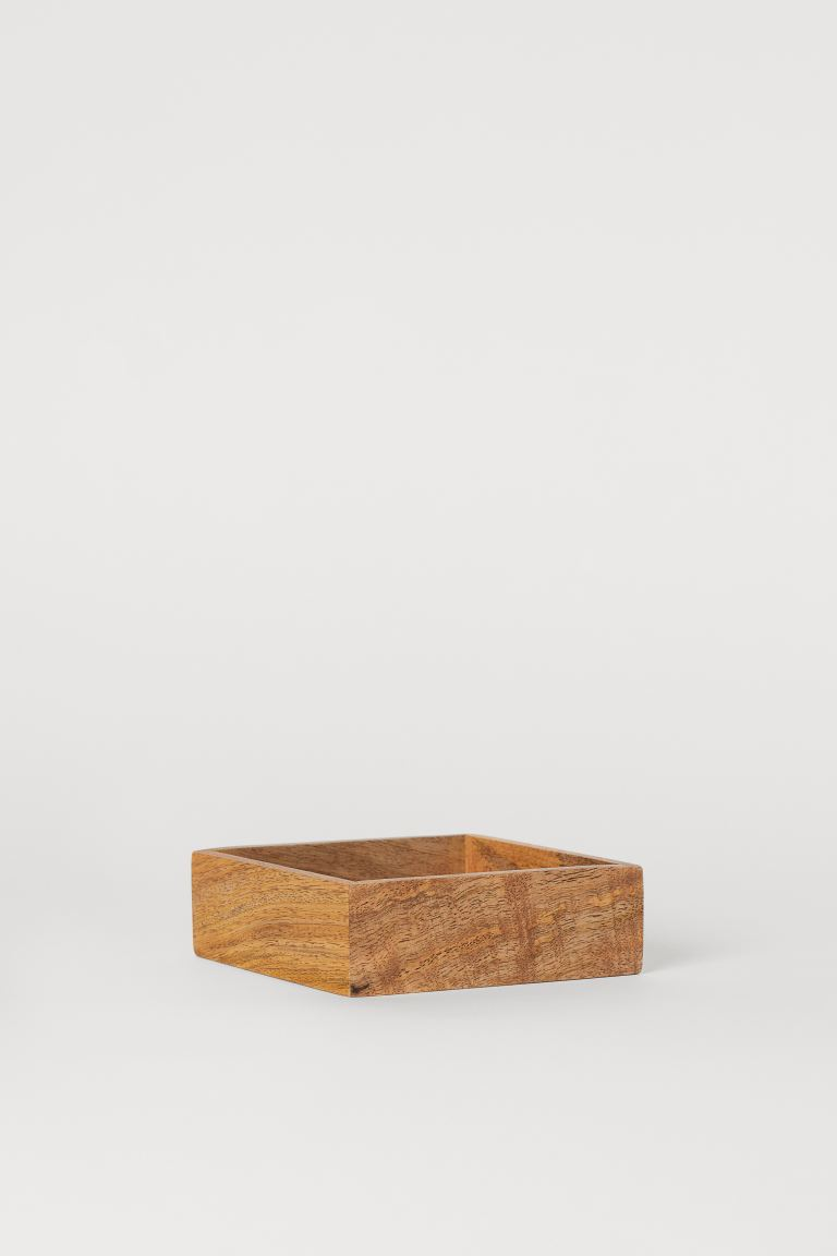 Wooden tray - Beige/Mango wood - Home All | H&M GB
