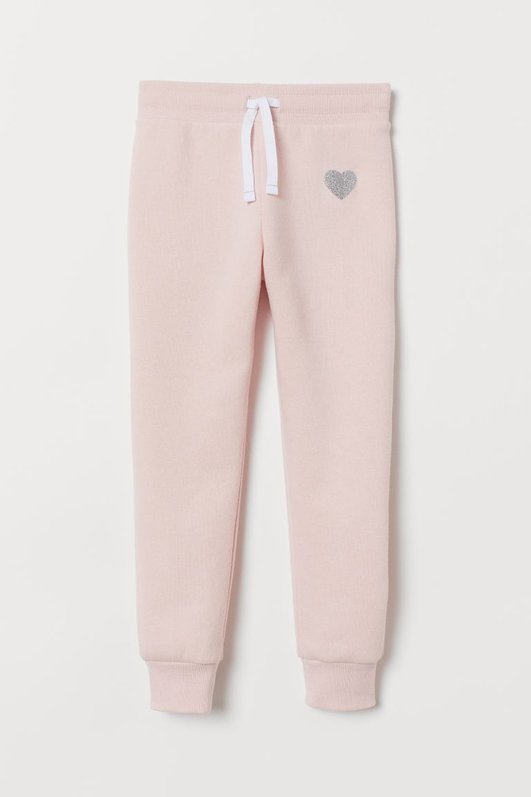 Joggers - Light pink/Heart - Kids | H&M IE