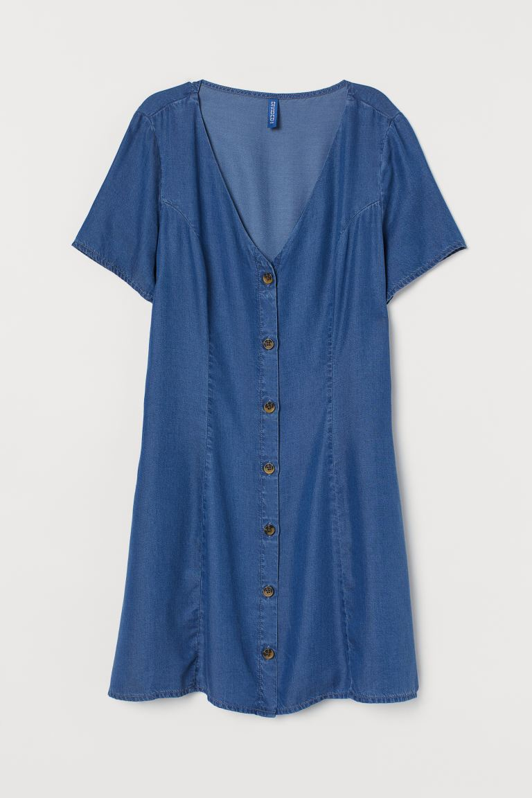 Lyocell Denim Dress - Denim blue - Ladies | H&M US
