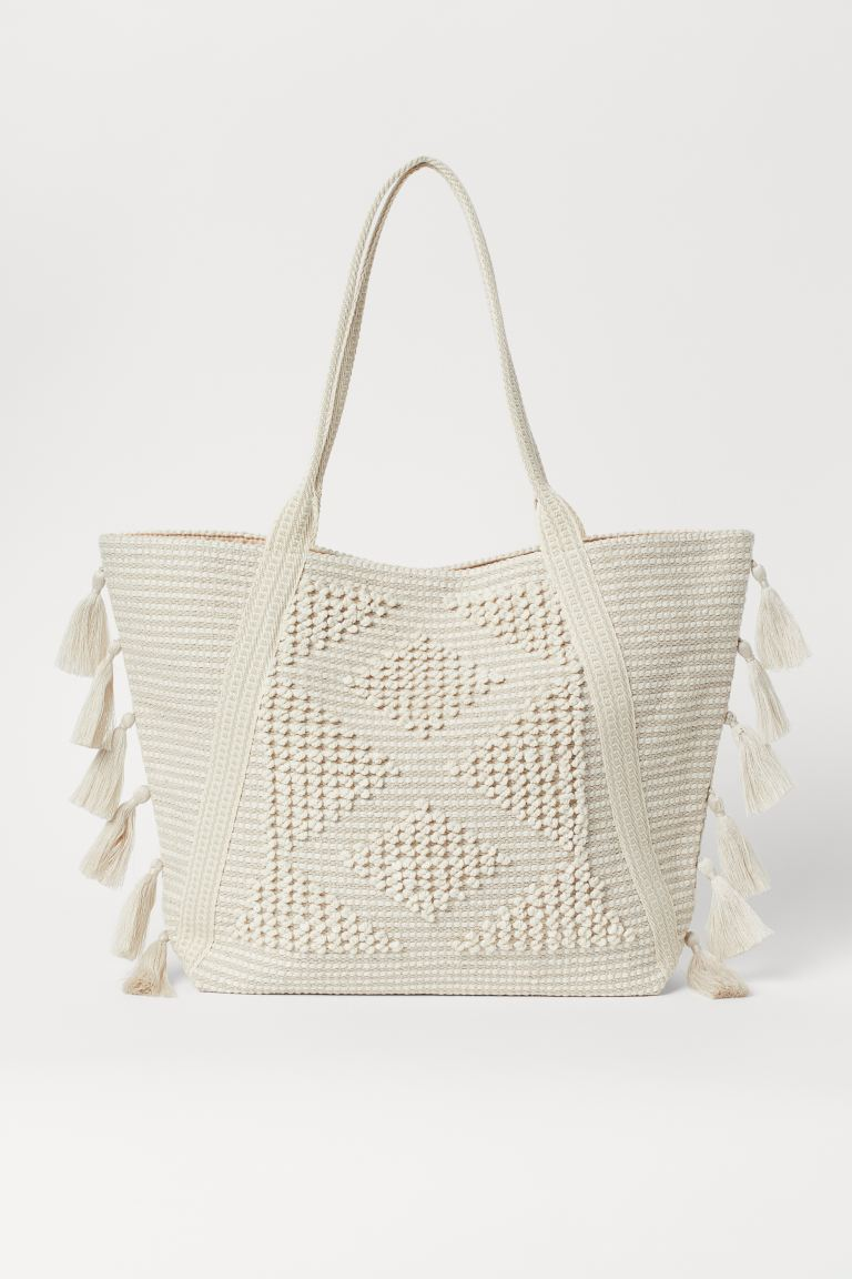 Tasseled Shopper - Light beige - Ladies | H&M CA