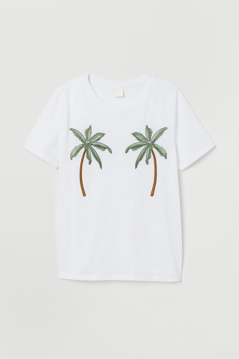 h and m home decor.htm t shirt white palm trees ladies h m us  t shirt white palm trees ladies h