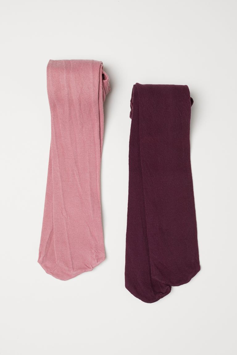 Collants, lot de 2 - Rose foncé - ENFANT | H&M CH