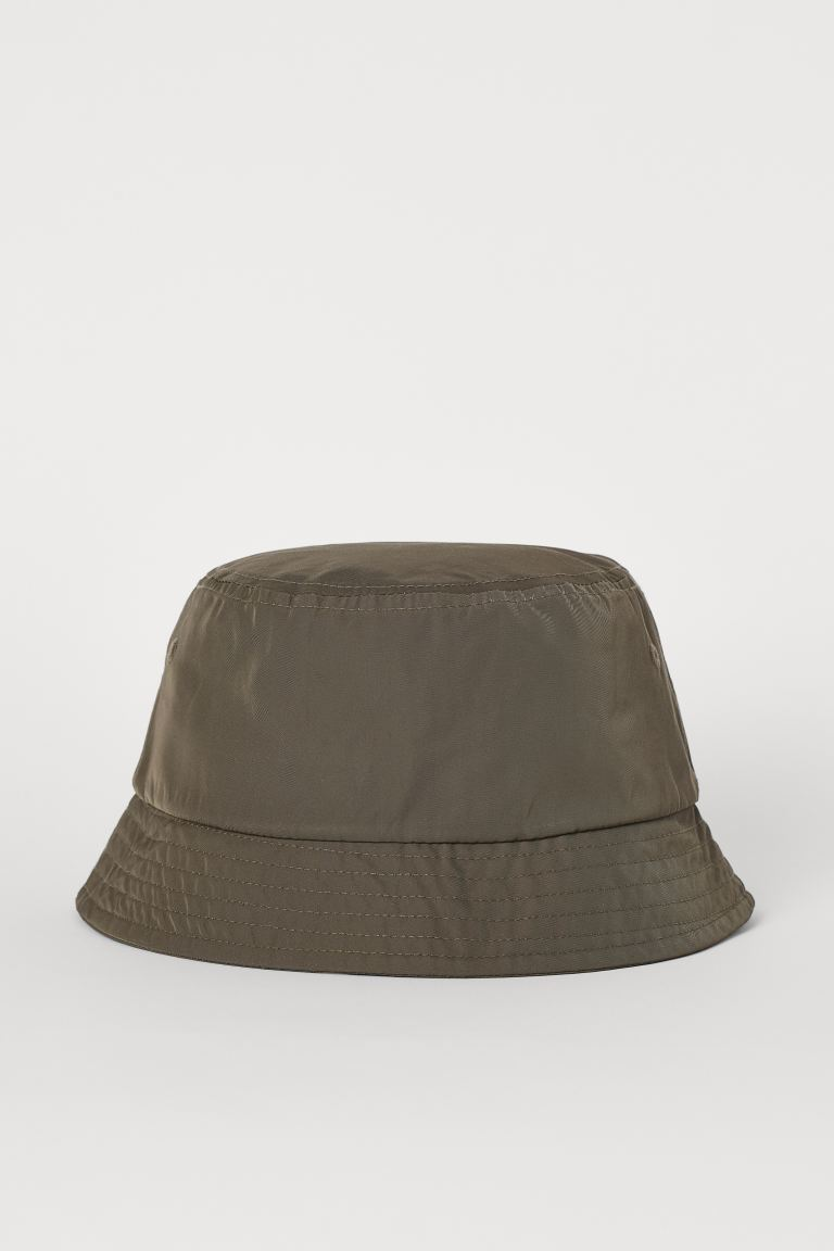 Bucket hat - Dark khaki green - Men | H&M