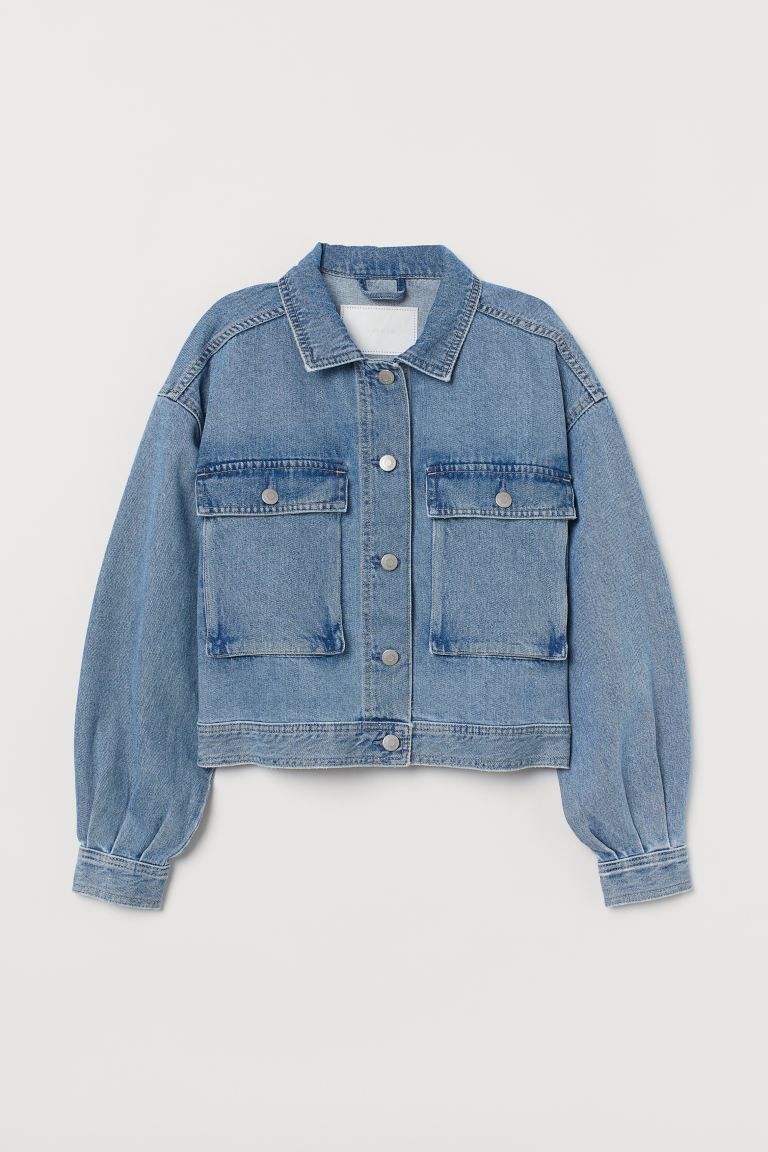 Boxy denim jacket - Denim blue - Ladies | H&M GB