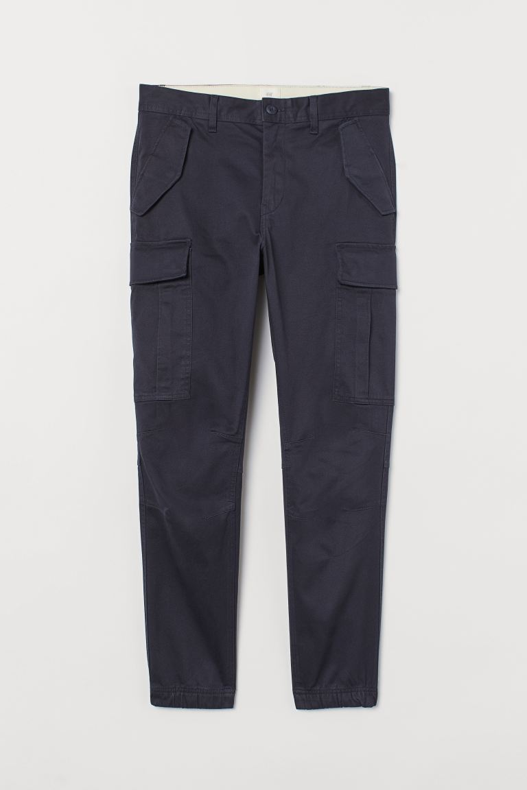 Baumwoll-Cargohose - Dunkelblau - Men | H&M AT