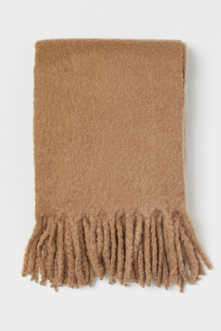 Wool-blend Throw - Dark beige - Home All | H&M US