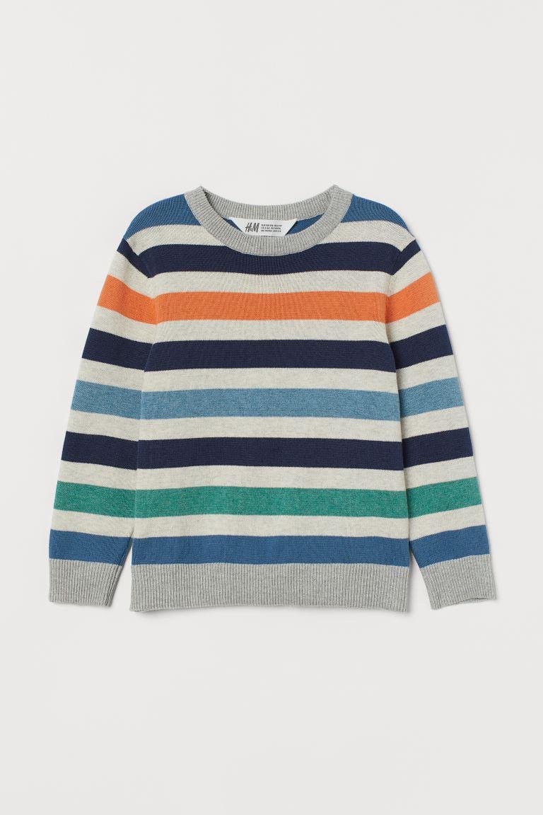 Fine-knit jumper - Multicoloured/Striped -  | H&M GB