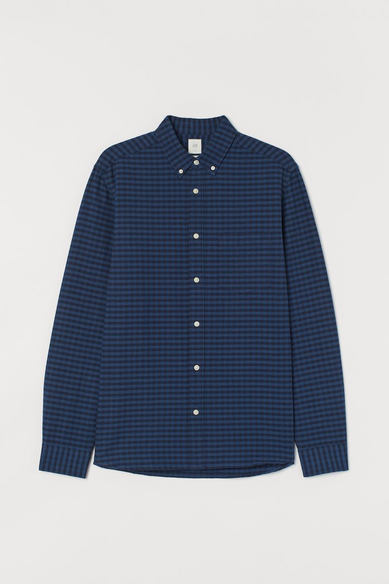 Regular Fit Oxford Shirt Dark Blue