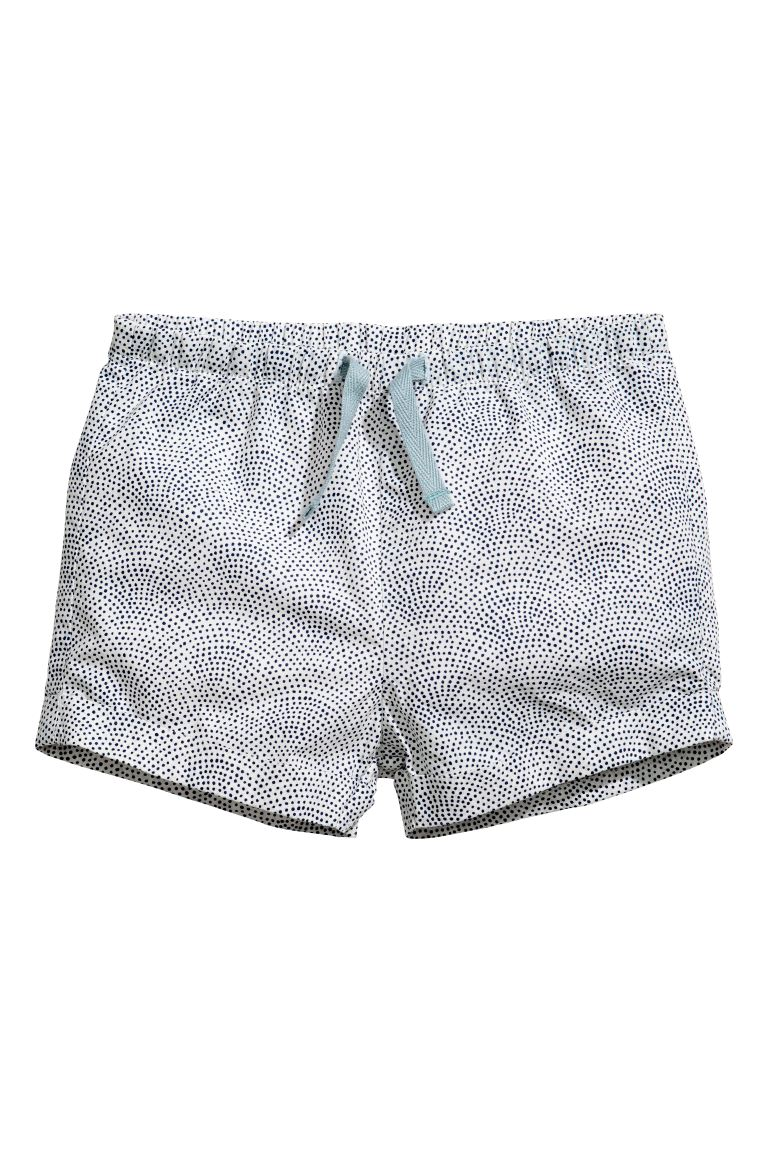 Cotton shorts - White/Spotted - Kids | H&M GB