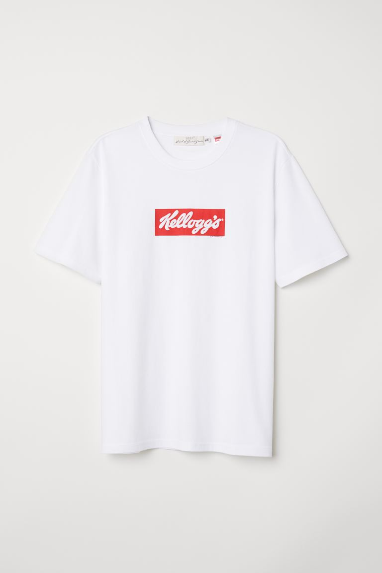 T-shirt met print - Wit/Kellogg's - HEREN | H&M BE