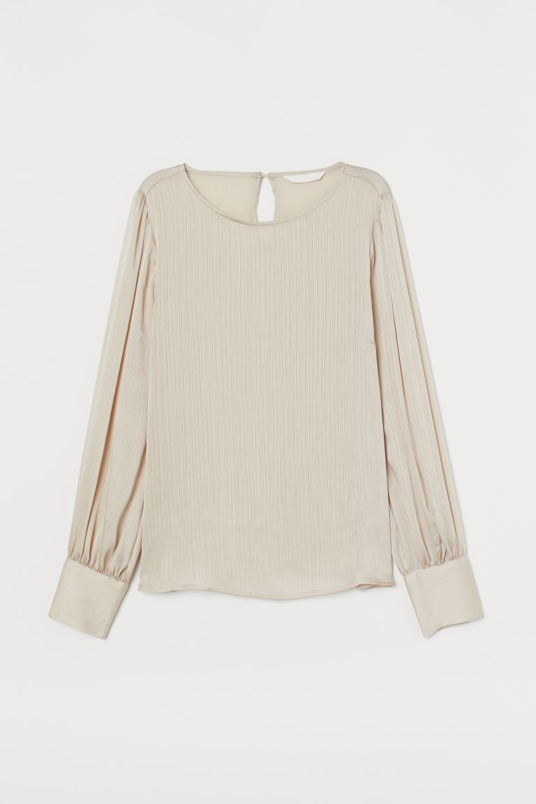 Блузка из жатой ткани