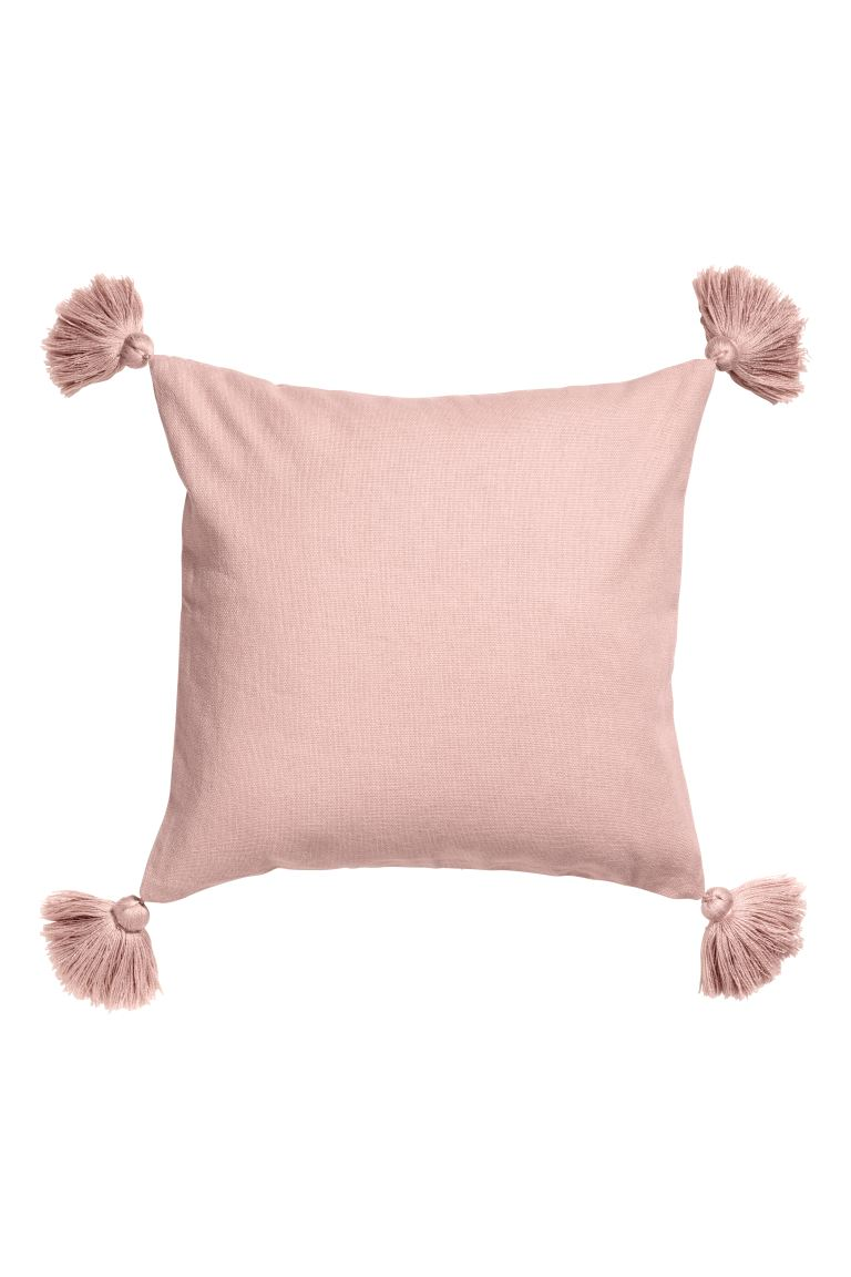 Tasselled cushion cover - Powder pink - Home All | H&M GB