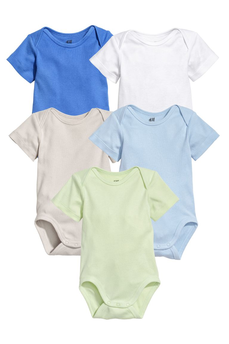 5-pack Bodysuits - Blue - Kids | H&M CA