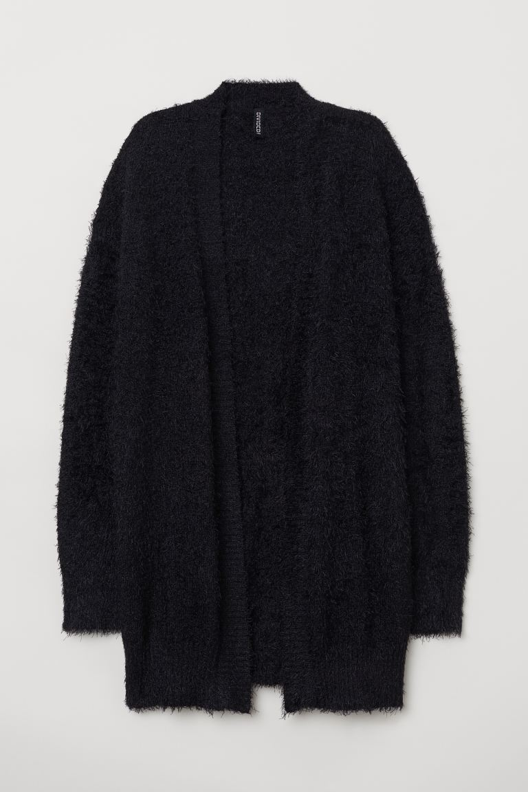 Fluffy Cardigan - Black - Ladies | H&M US