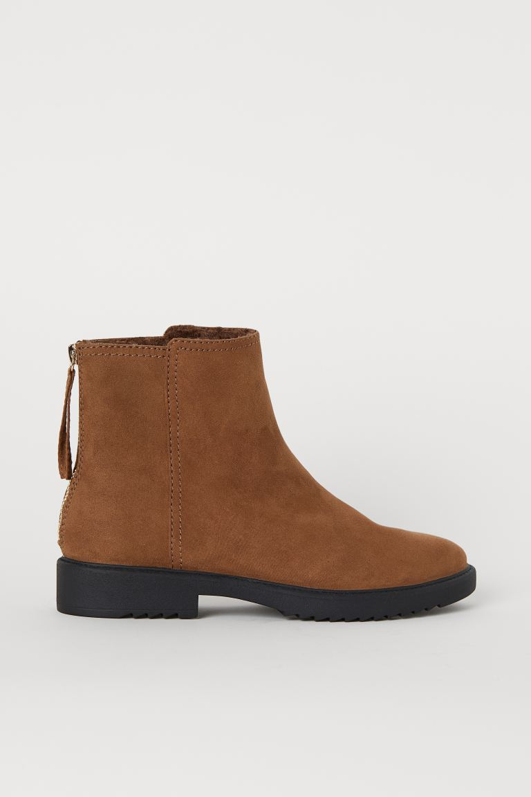 Warm-lined boots - Light brown - Ladies | H&M