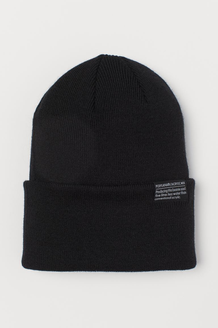 Fine-knit hat - Black -  | H&M IN