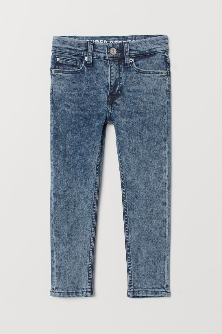 Superstretch Skinny Fit Jeans - Denimblauw washed out - KINDEREN | H&M NL