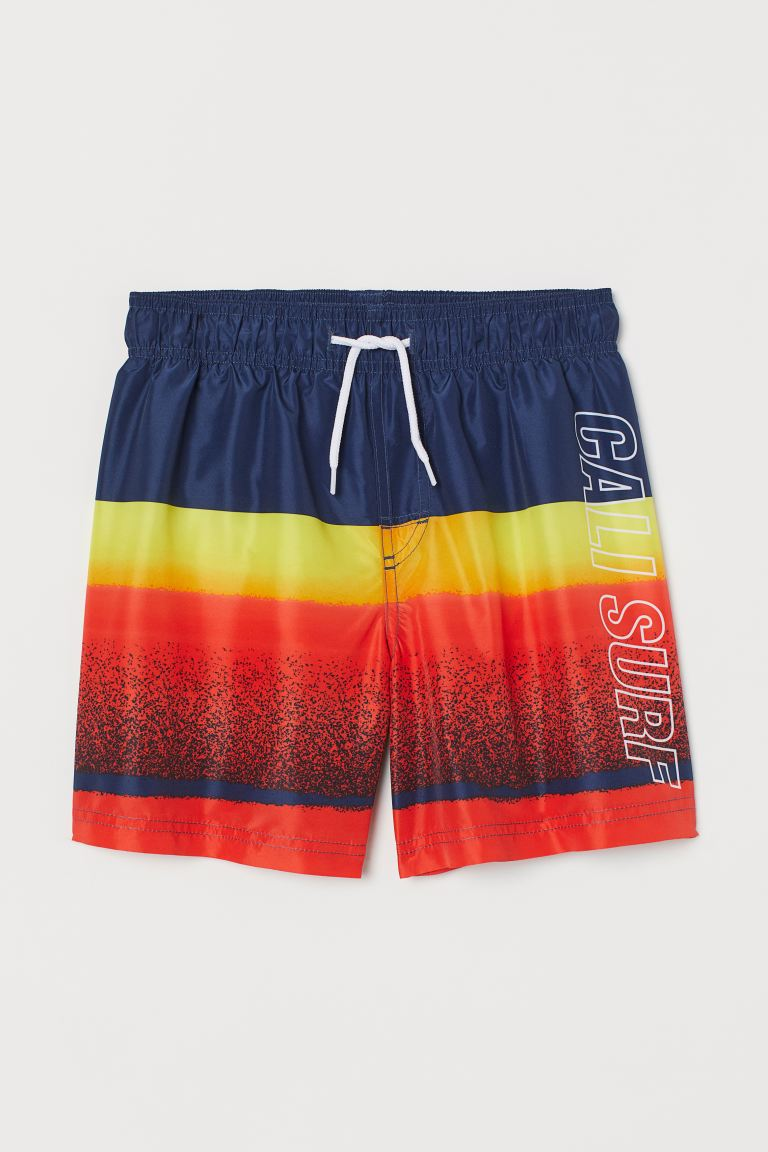 Patterned swim shorts - Red/Cali Surf - Kids | H&M