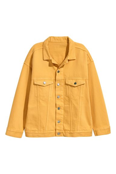 Oversized denim jacket - Yellow - Ladies | H&M GB