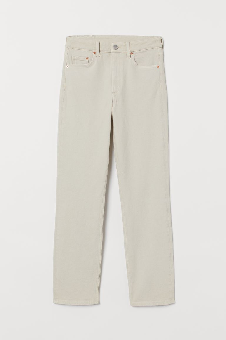 Vintage Slim High Ankle Jeans - Natural white - Ladies | H&M