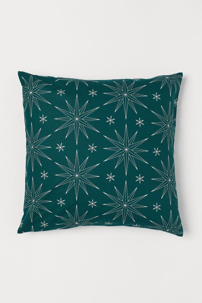 Patterned Cushion Cover - Green/stars - Home All | H&M US