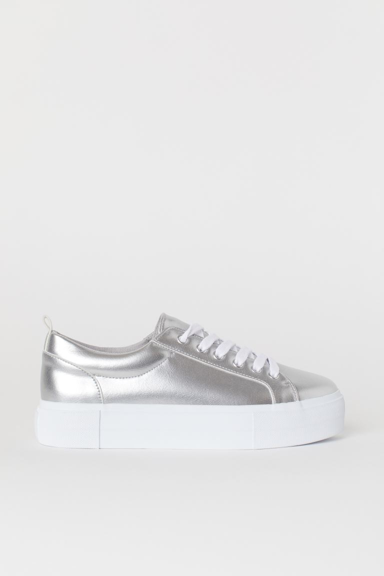 Plateausneaker - Silberfarben - Ladies | H&M AT