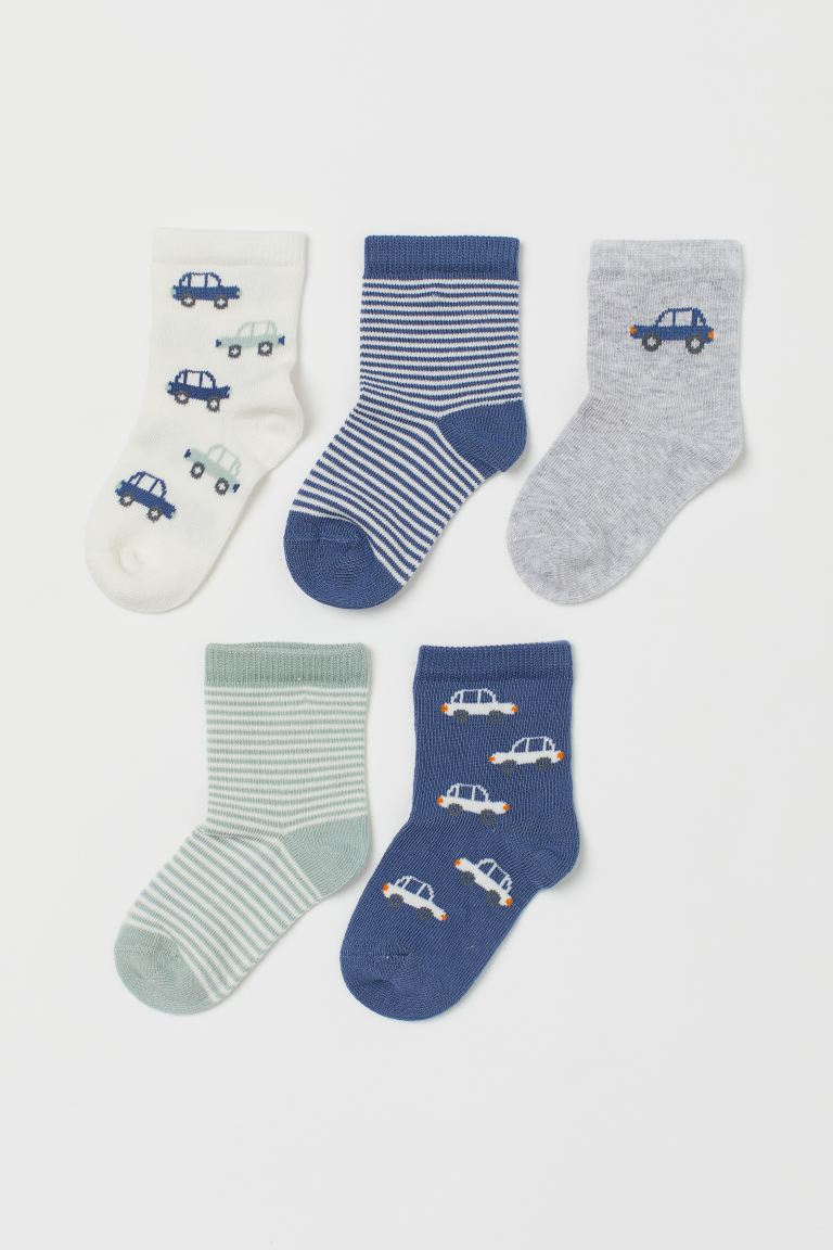 5-pack socks - Blue/Cars - Kids | H&M