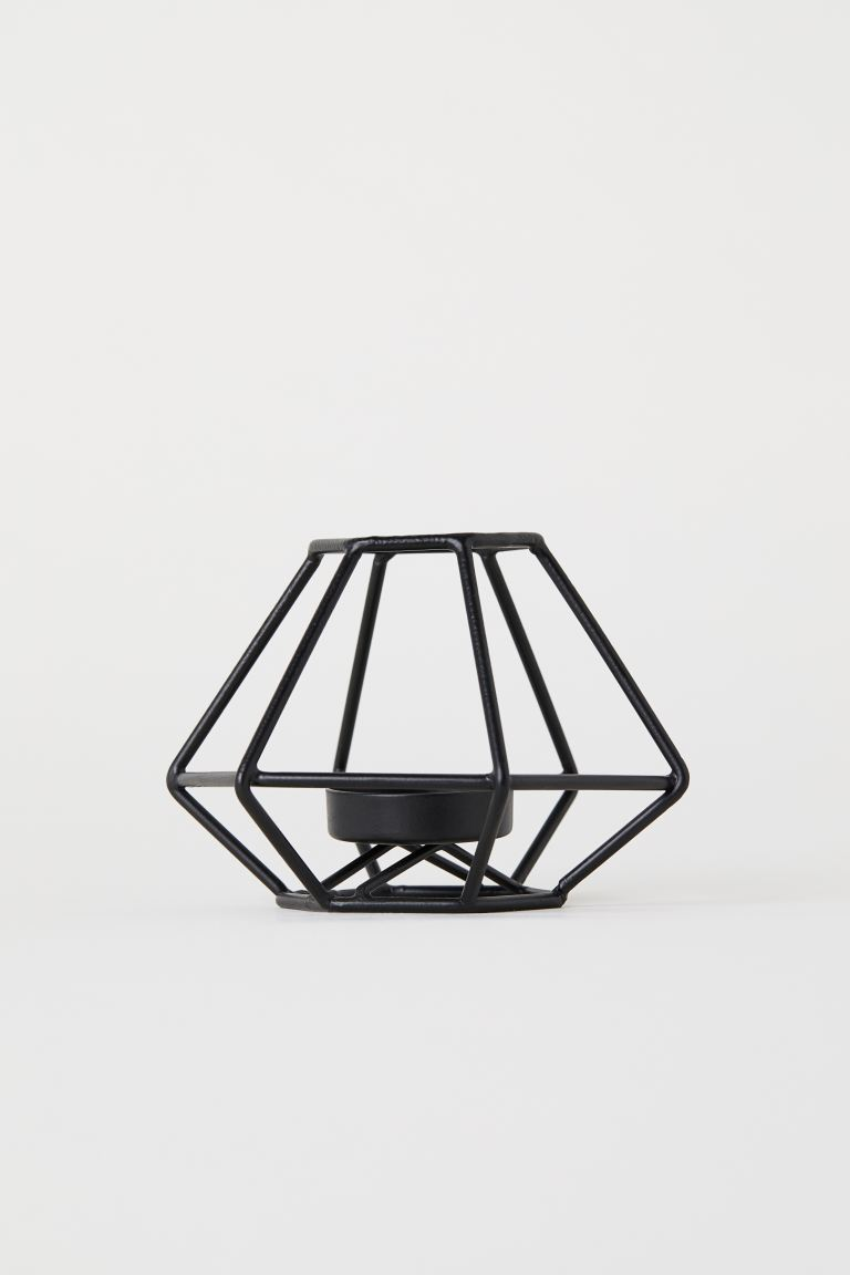 Metal tealight holder - Black - Home All | H&M IE