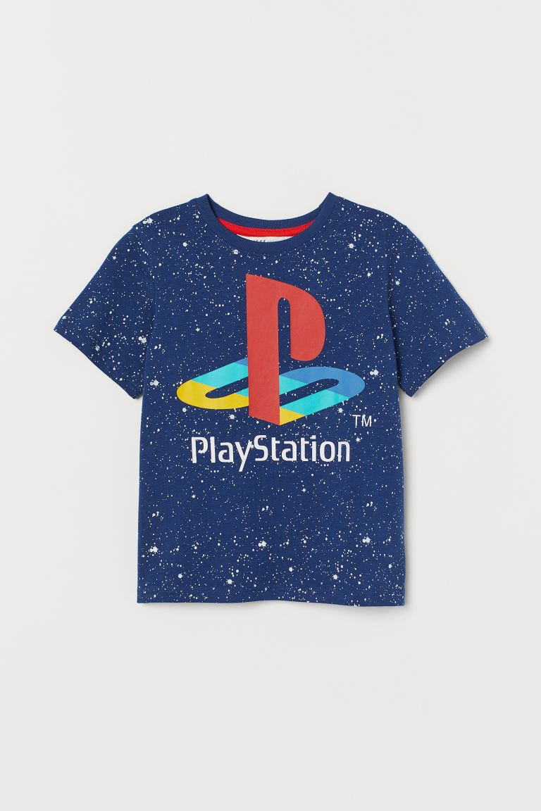 T-shirt com estampado - Azul/PlayStation -  | H&M PT