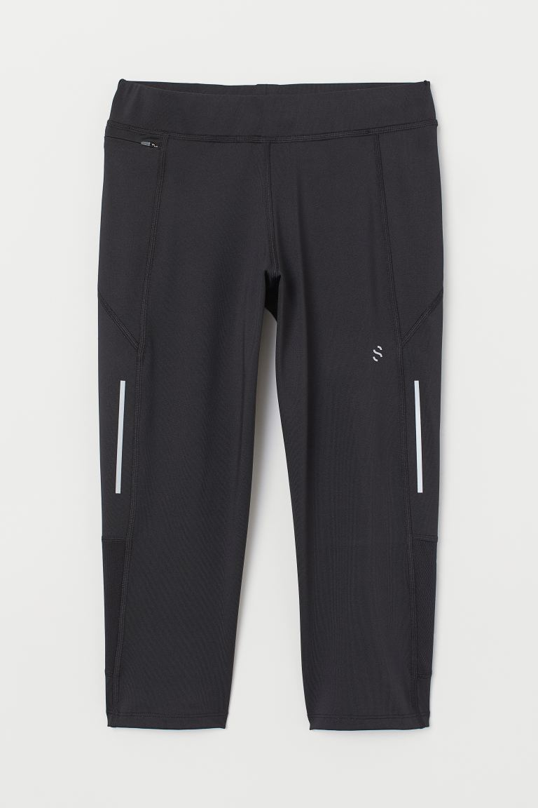 3/4-length Running Tights - Black - Men | H&M US