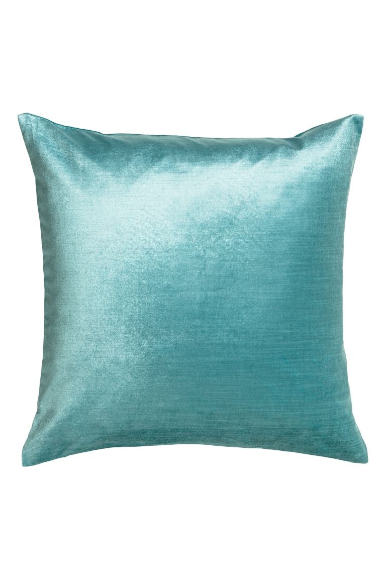 Velvet cushion cover - Turquoise - Home All | H&M GB