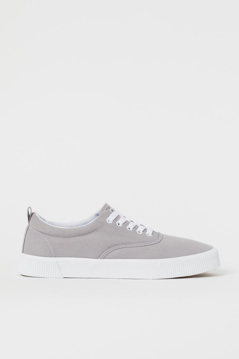 Sneaker aus Canvas - Hellgrau - Men | H&M DE