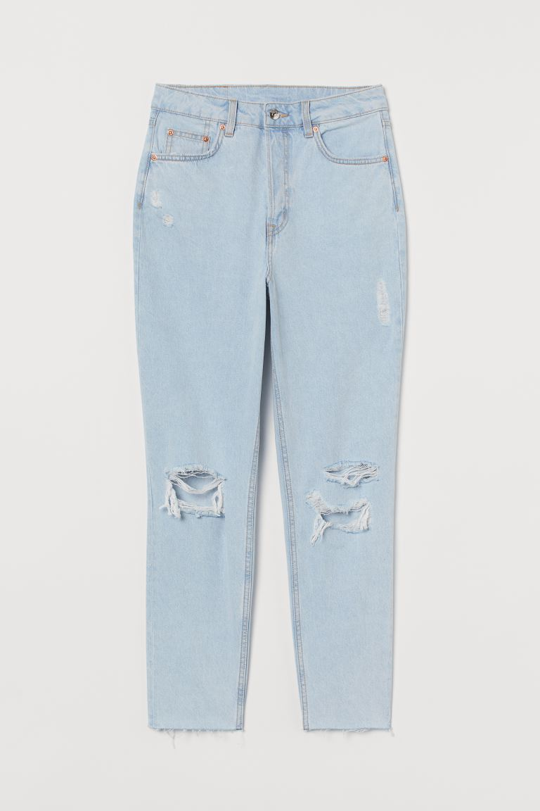 Slim Mom High Ankle Jeans - Bleek denimblauw - DAMES | H&M NL