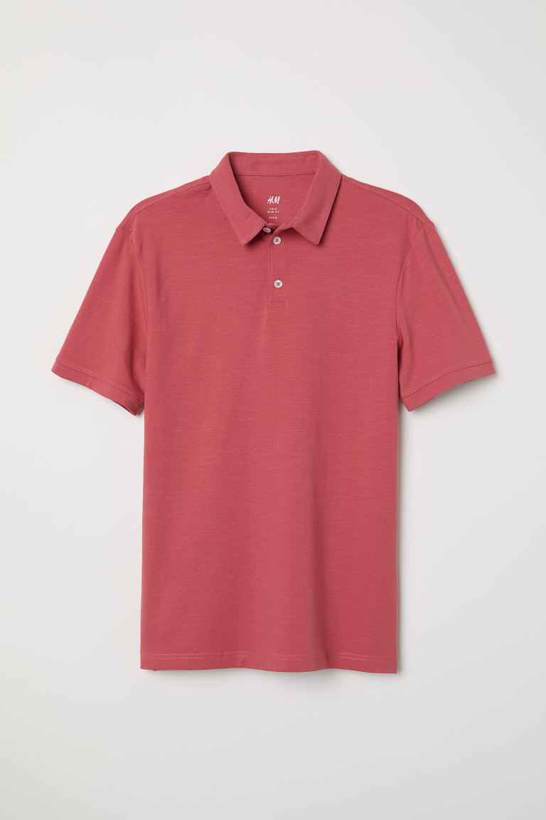 Slim Fit Polo Shirt - Red - Men | H&M US