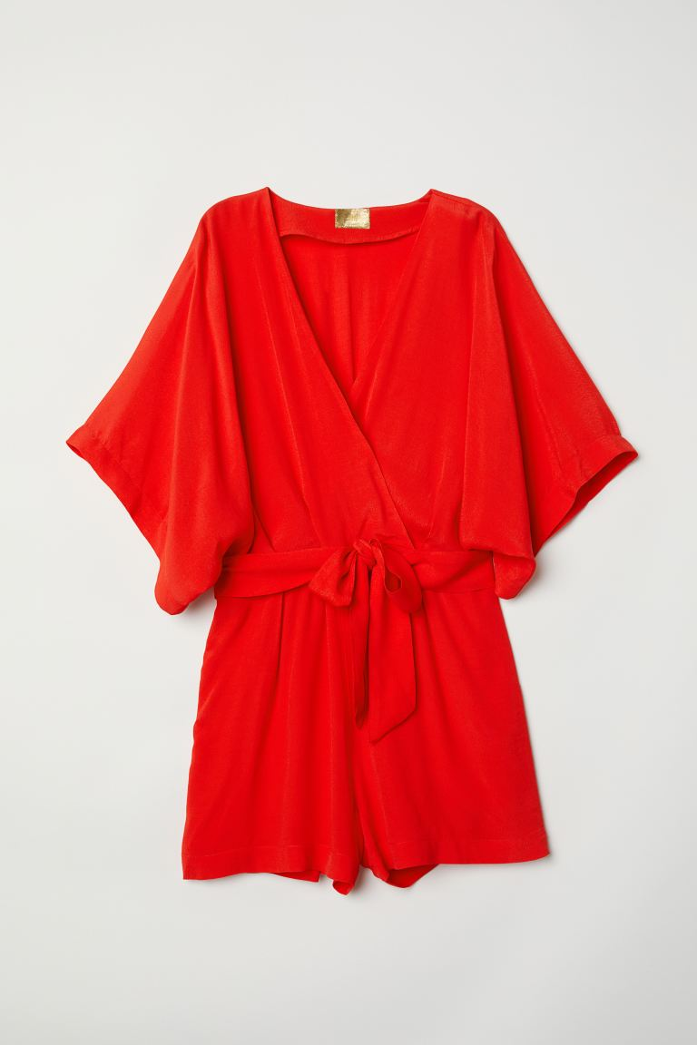 Playsuit - Bright red - Ladies | H&M GB
