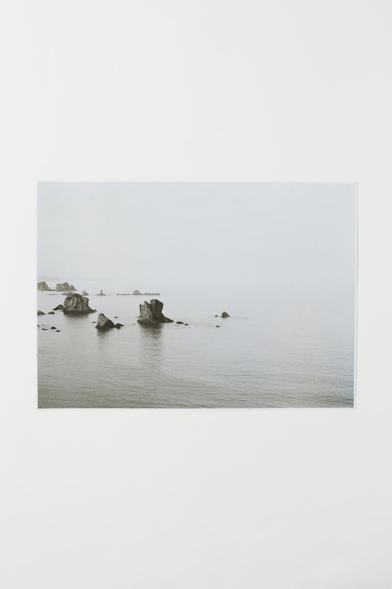 Poster - Gris clair/Rocks in the sea - HOME | H&M CH