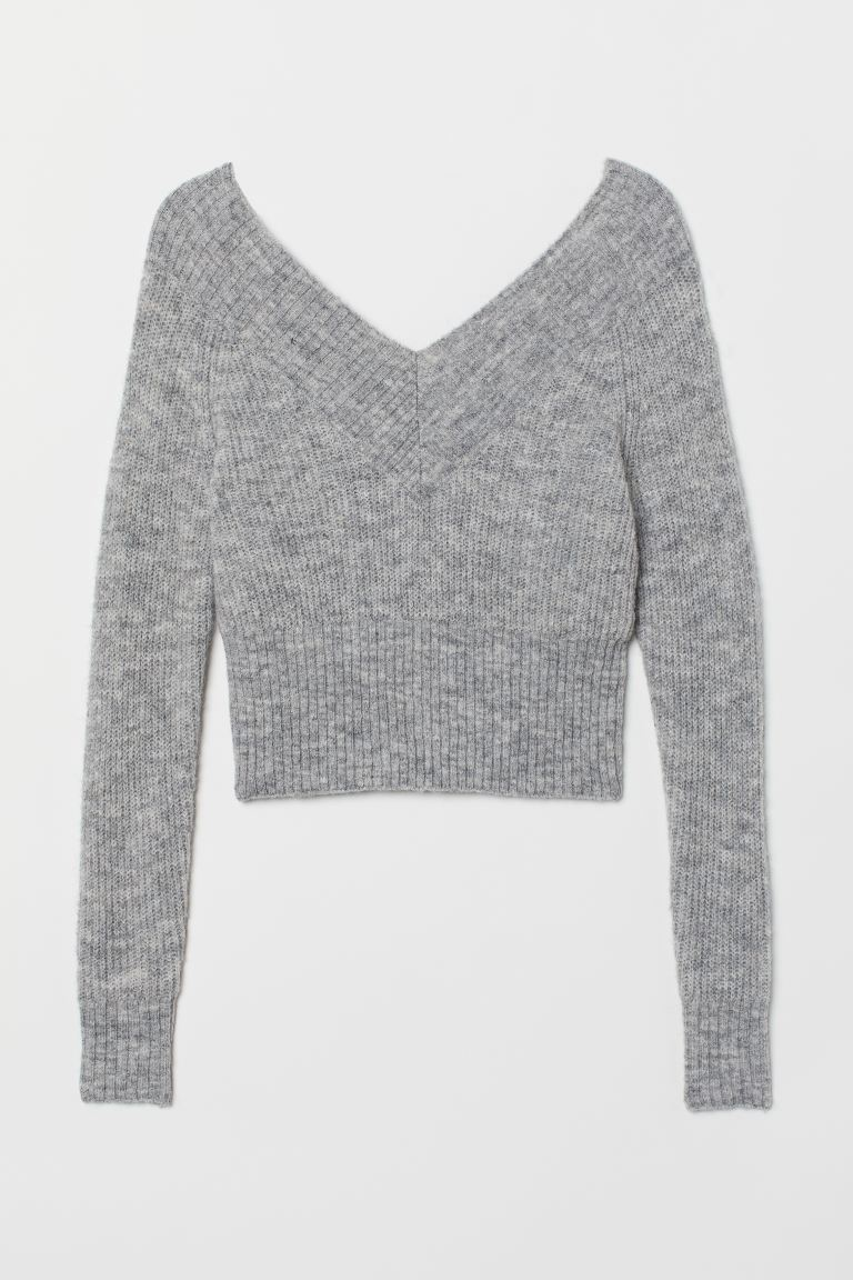 Off-the-shoulder jumper - Grey marl - Ladies | H&M IN
