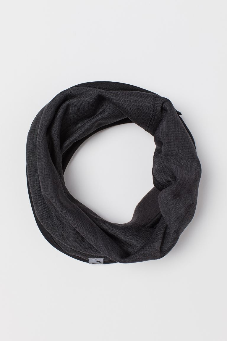 Fleece Tube Scarf - Dark gray melange - Men | H&M US