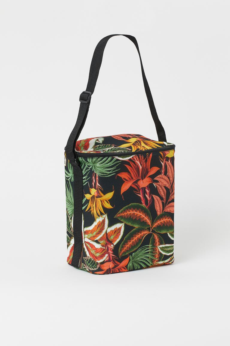 Patterned cool bag - Black/Leaf print - Home All | H&M GB