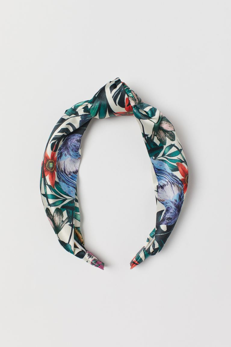 Hairband with Knot - Natural white/floral - Ladies | H&M US