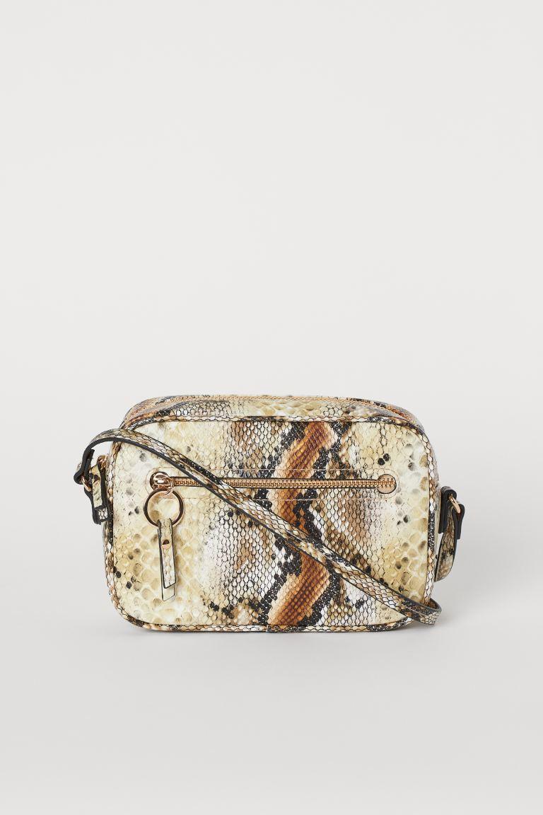 Small shoulder bag - Light brown/Snakeskin pattern - Ladies | H&M GB