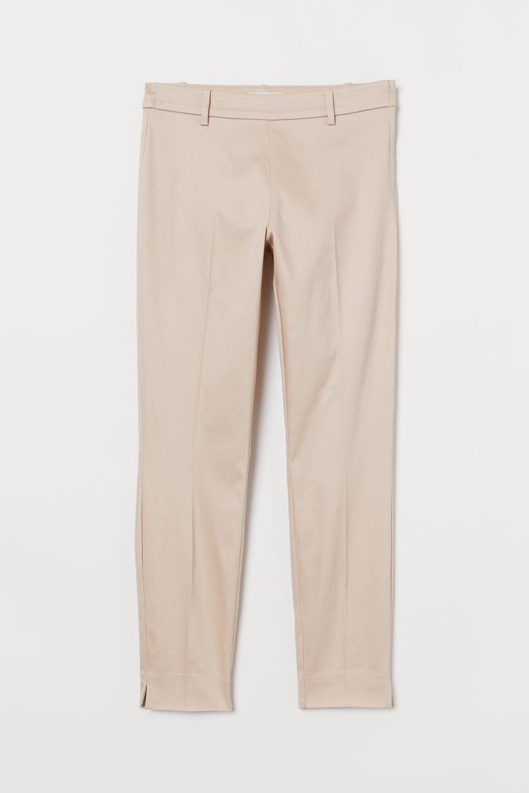 Cigarette trousers - Powder pink - Ladies | H&M GB