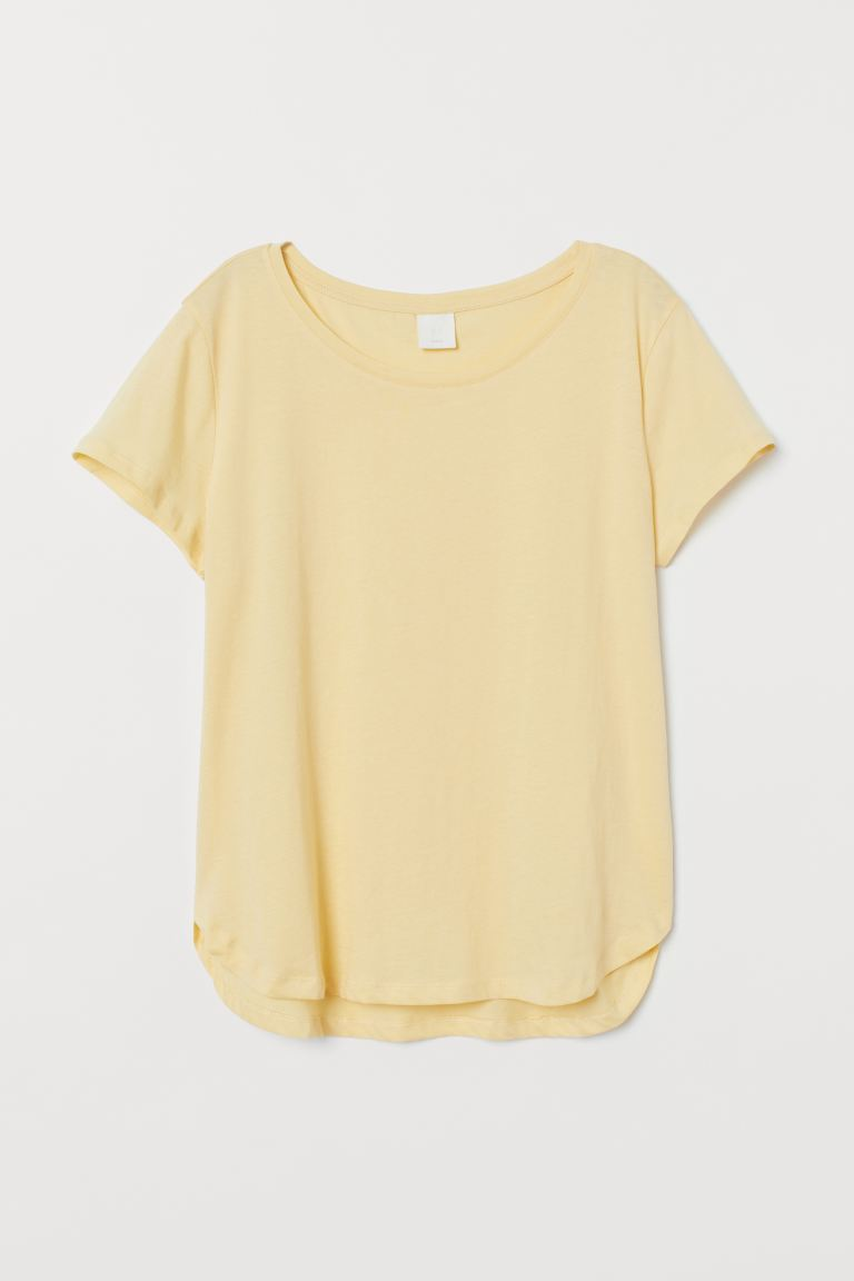 Jersey top - Light yellow - Ladies | H&M IN