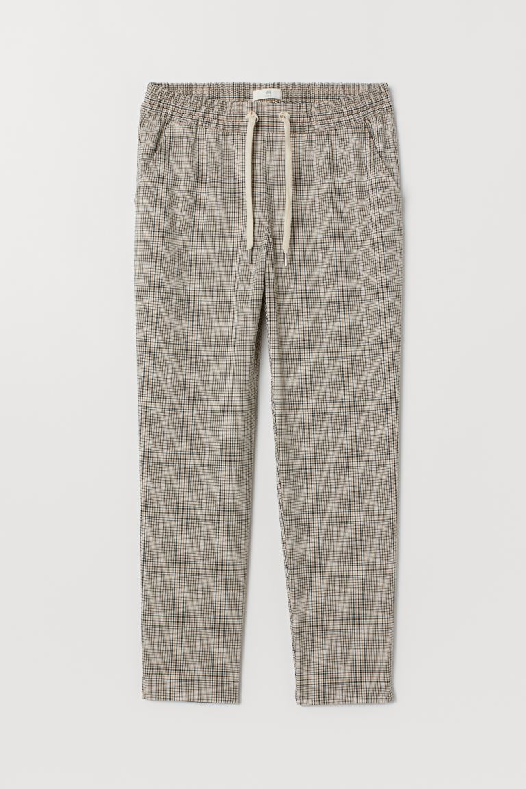 Joggers - Beige/checked - Ladies | H&M CA